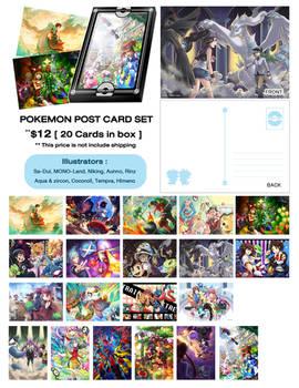 Pokemon Postcard Set