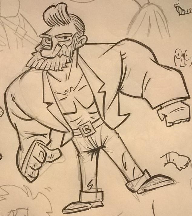 Inked sketch by Slentert