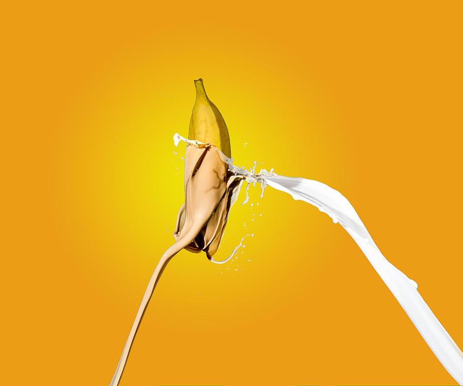 Banana coffee splash by Delahkel