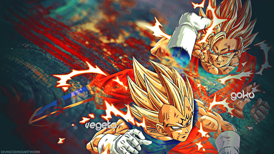 Dragon Ball Z HD Wallpaper Vegeta And Goku By RobyBaggio10
