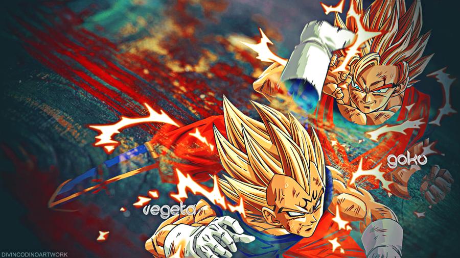 Dragon Ball Z HD Wallpaper Vegeta And Goku By RobyBaggio10