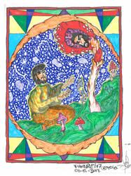 The Sacred Mushroom and the Cross by AndreiPascanu