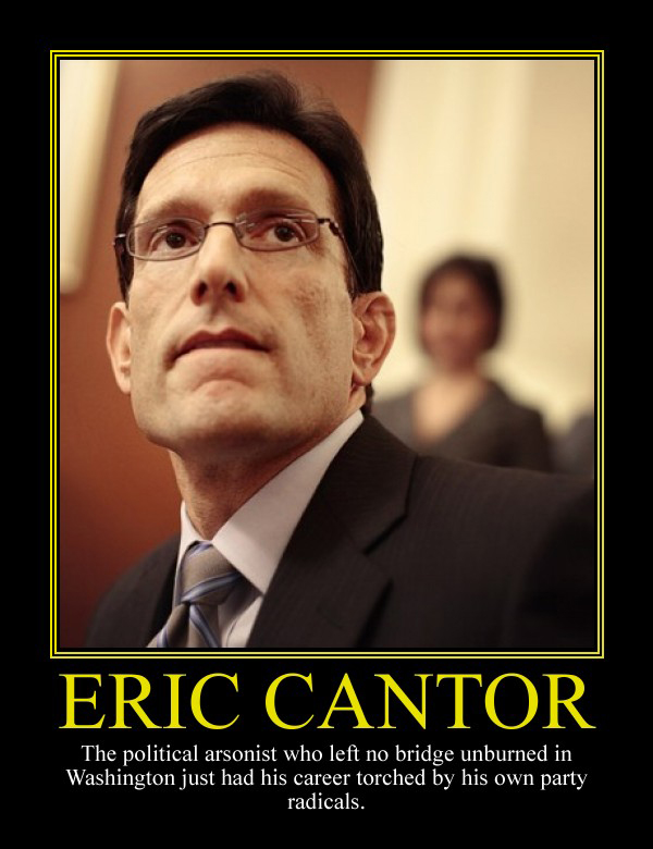 Eric Cantor Motivational Poster by DaVinci41