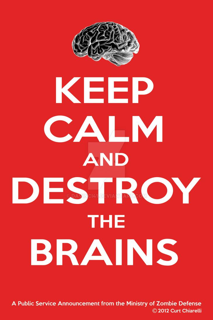 Keep Calm Zombie Poster by DaVinci41