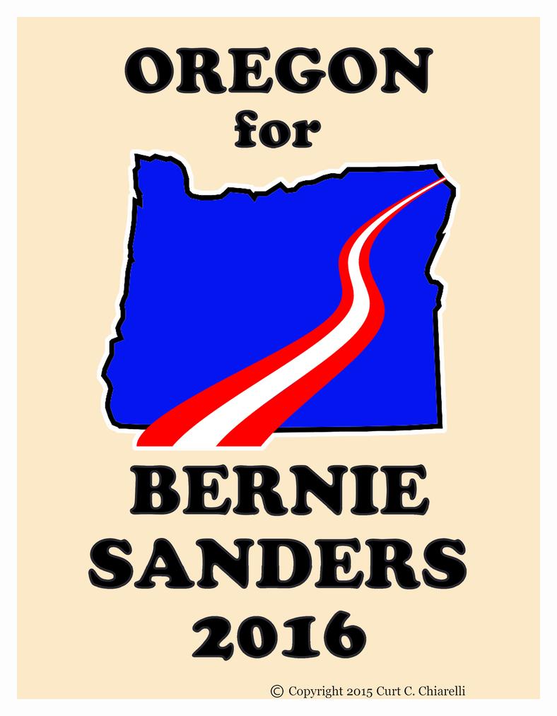 Oregon for Bernie Sanders Graphic by DaVinci41
