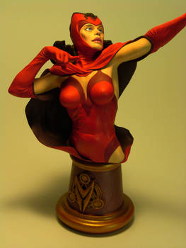 Scarlet Witch Bust - Close-Up Front View