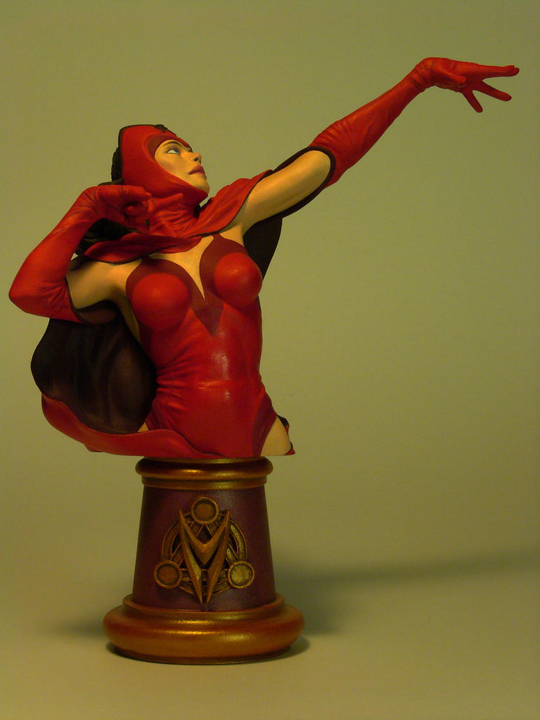 Scarlet Witch Bust - Front View by DaVinci41