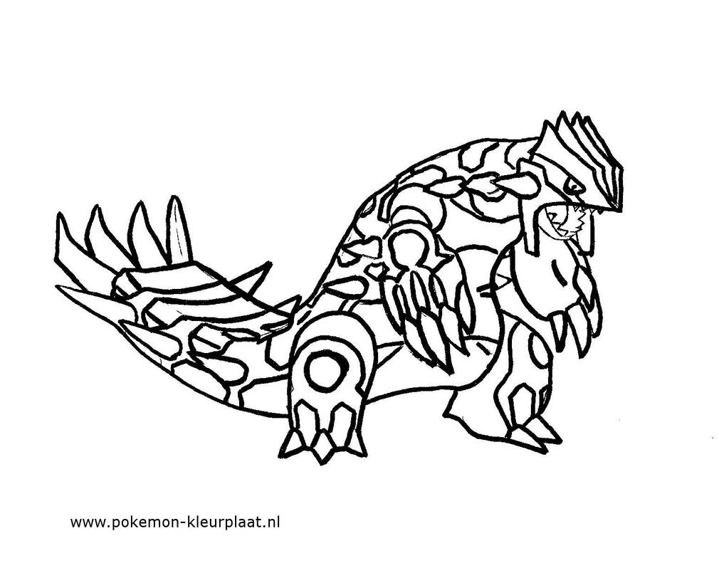 Pokemon coloring pages kyogre - Primal Groudon Coloring Page By Jpijl On Deviantart