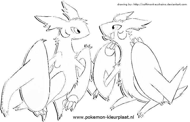 coloringpage mega latios and mega latias by jpijl