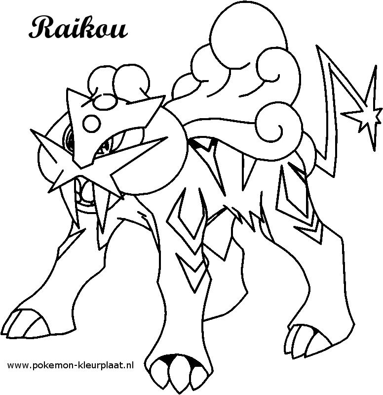 raikou coloring page by jpijl on deviantart