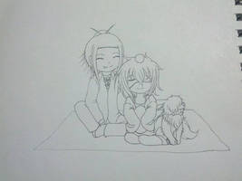 picnic entra cerezos -kuruko y ayuko- WIP by kat-koshmar