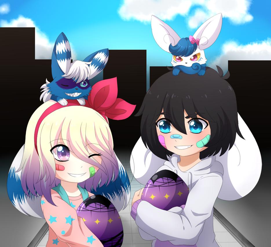 AA2-Huevos Halloween-Dami e Ilu by kat-koshmar