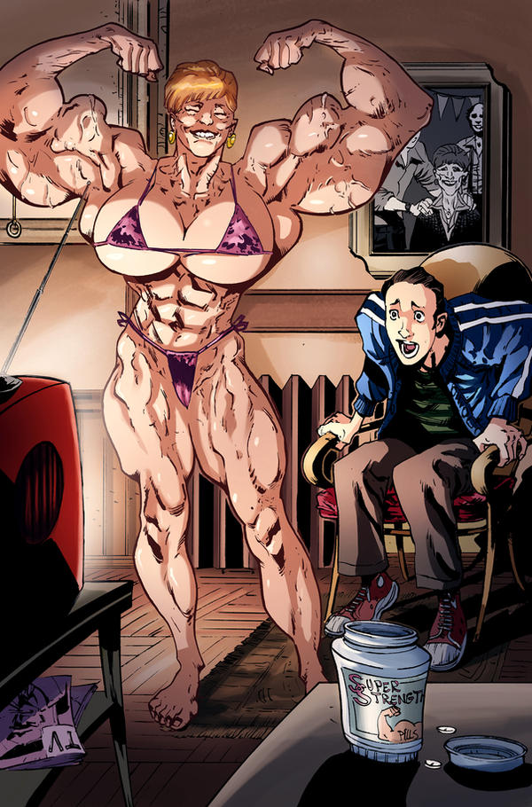 Muscular Grandmother color by Hexekiel