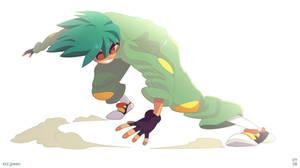 SLIDE KID GREEN by pyawakit