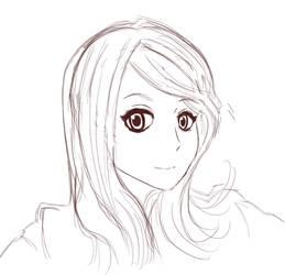 Thabata-chan sketch lines