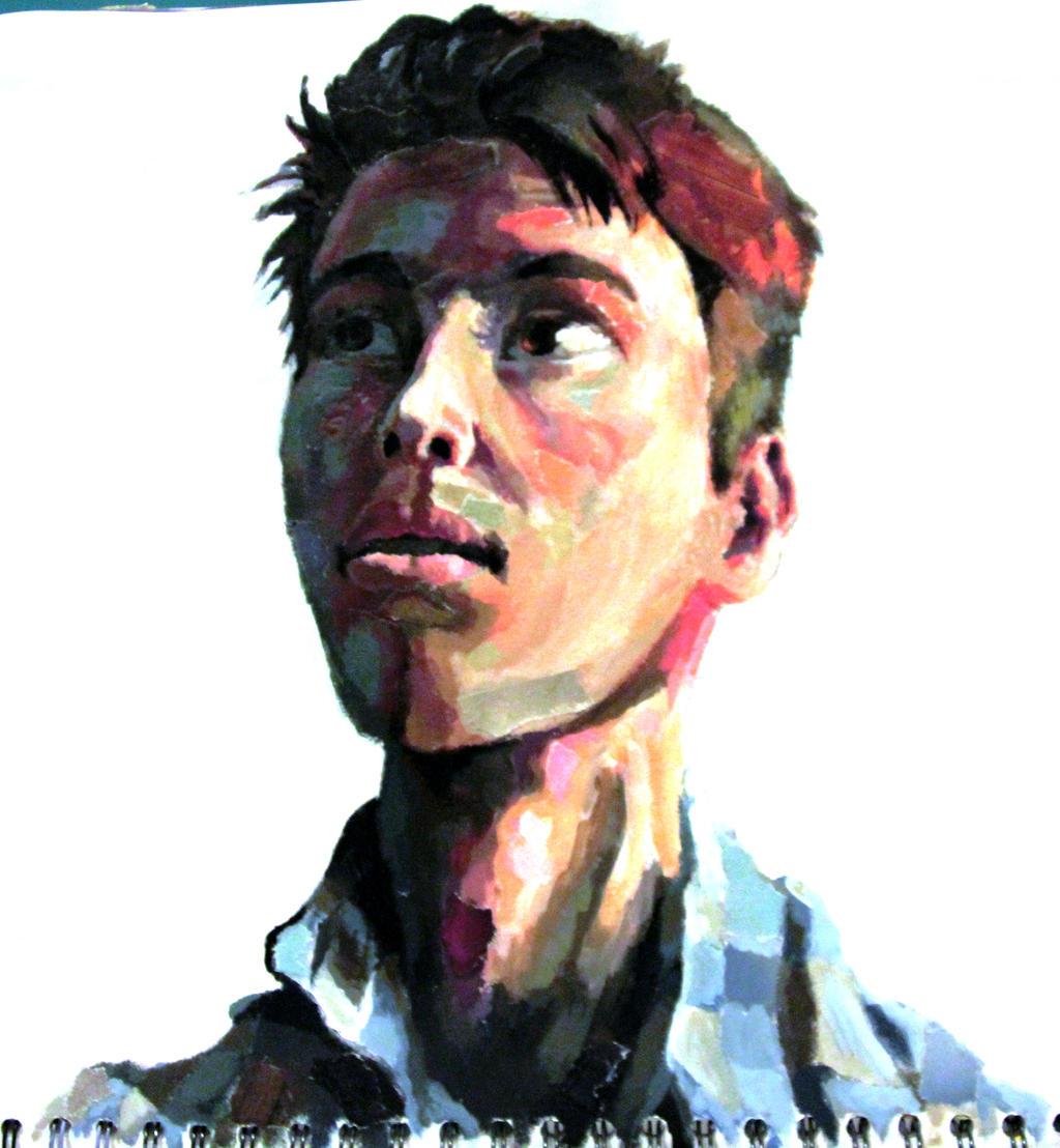 Self Portrait Painting by Daboya on DeviantArt