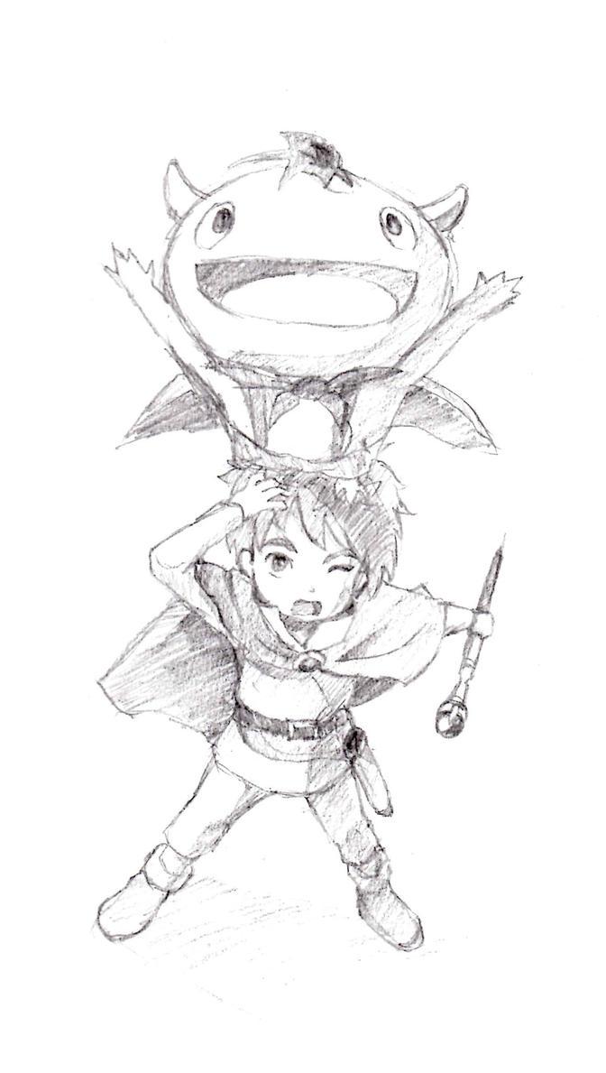 Ni No Kuni Sketch :D by Daboya
