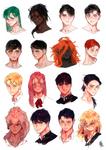 :: OC / Head sketches ::