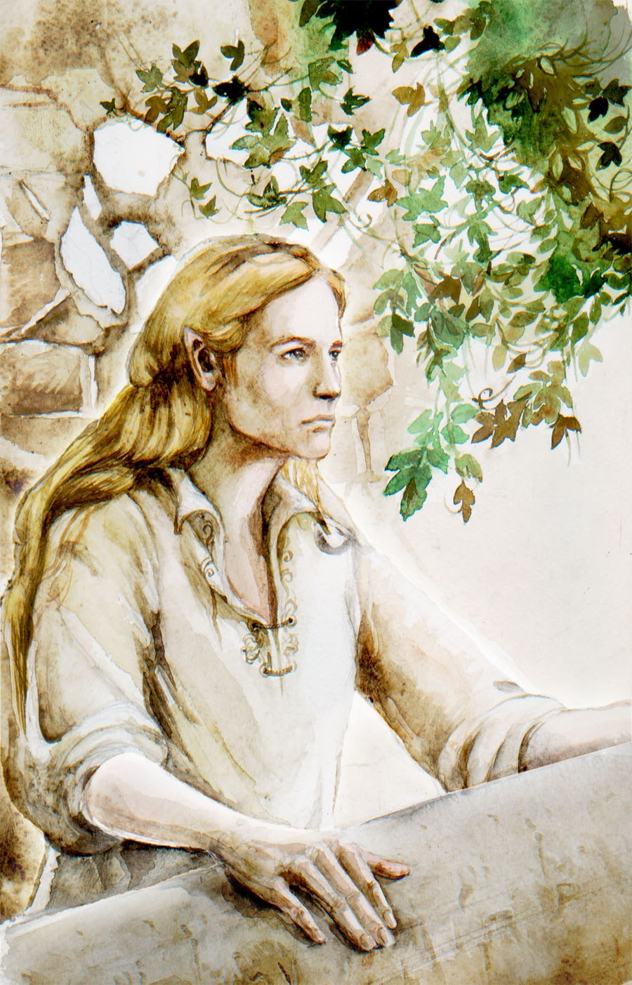 From the forgotten world, into eternity - Page 2 Finrod_in_Nargothrond_by_tuuliky