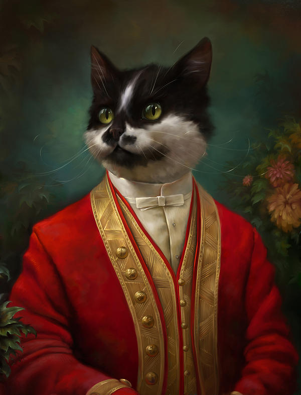 The Hermitage Court waiter cat by EldarZakirov