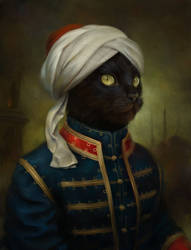 The Hermitage Court Moor Cat by EldarZakirov