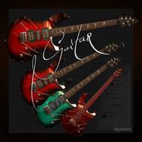 7 Megapixel Hi-Resolution Electric Guitar Layered by EldarZakirov