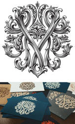 Yazykov Group Scratchboard Stylized Logo