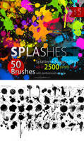50 HQ Splatter Photoshop Brushes
