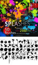 50 HQ Splatter Photoshop Brushes