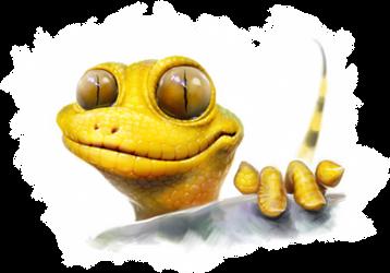 When geckos are very tricky... by EldarZakirov