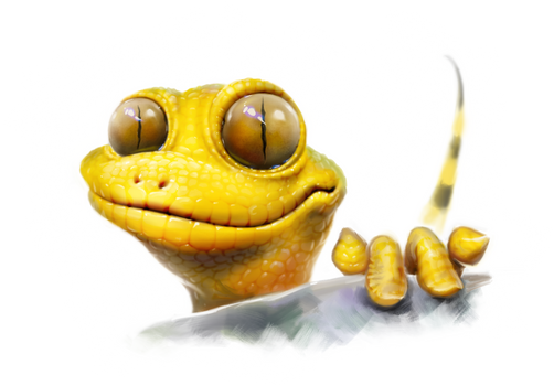 When geckos are very tricky...