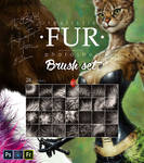 Realistic FUR. 28 Brushes for Photoshop. Updated!