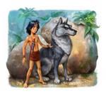 Mowgli Illustrations for the Dreamsland book