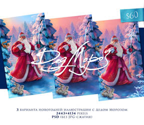 Ded Moroz hi-res Greeting card Image by EldarZakirov