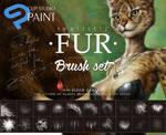 20 CLIP STUDIO PAINT Realistic FUR Brush Sub Tools by EldarZakirov