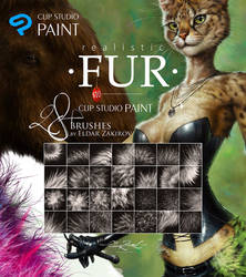 28 CLIP STUDIO PAINT Realistic FUR Brush Sub Tools