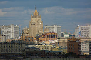 Moscow. View to the Ministry of foreign Affair by EldarZakirov