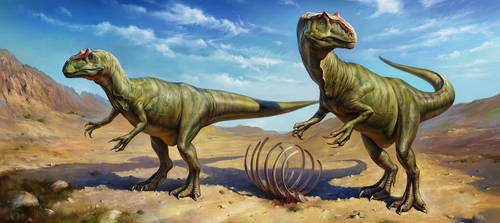 Allosaurus by EldarZakirov