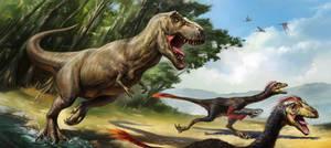 Tyrannosaurus and Prey