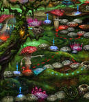 Magic Forest game. Game board. Fragment 3 by EldarZakirov