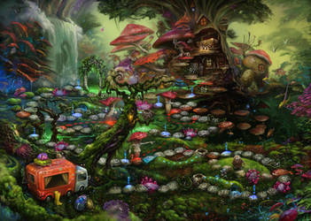 Magic Forest. Game board. by EldarZakirov