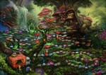 Magic Forest. Game board.