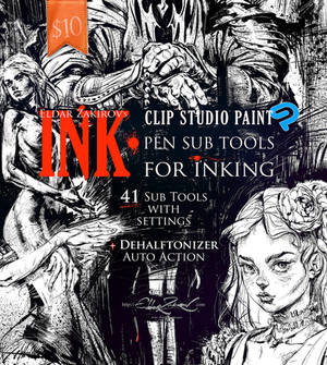 INK. 41 Sub Tools for Inking.