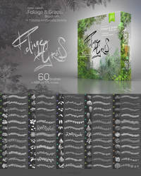 Foliage and Grass 60 PS brushes. SALE! by EldarZakirov