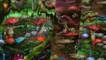 Magic Forest. Amanitas, malevolent and strict by EldarZakirov