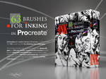 INK. 63 Procreate Brushes for realistic Inking by EldarZakirov