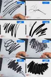 INK. 63 Procreate Brushes. Demonstration video