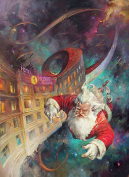 Christmas At The Hilbert Astoria. Cover art