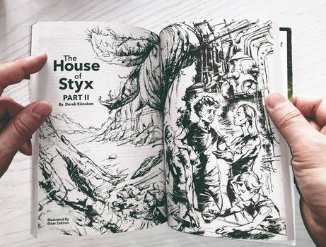 The House of Styx. Interior Art 1 is printed