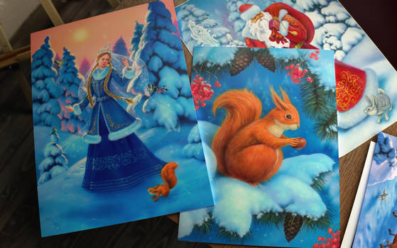 Winter Holidays Illustrative Set #1.